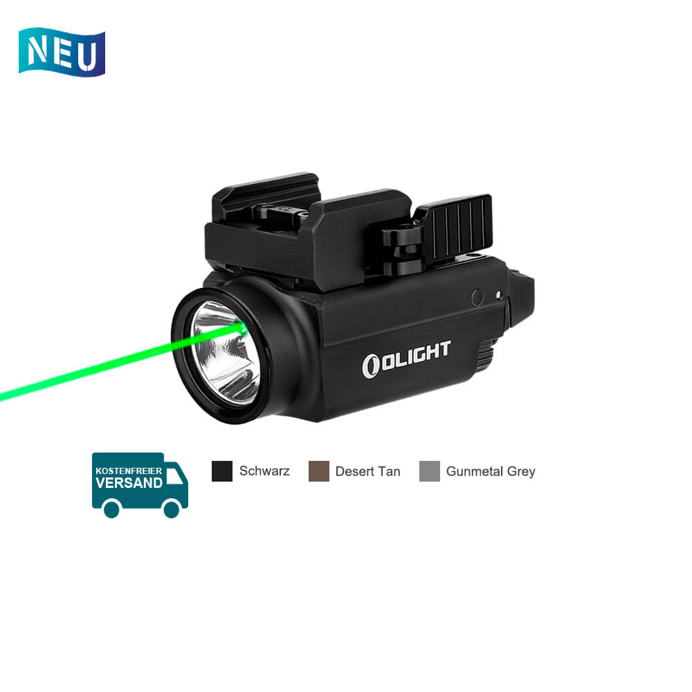 Olight Baldr S Grüner Laser Polizei Waffenlampe