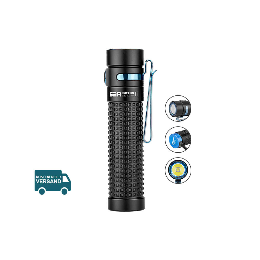 Olight S2R Baton II Taschenlampe - schwarz