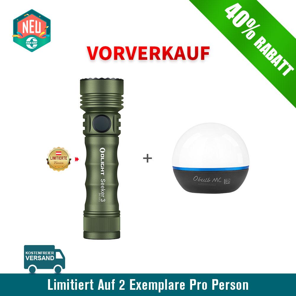 Olight Seeker 3 Taschenlampe OD Green Bundle