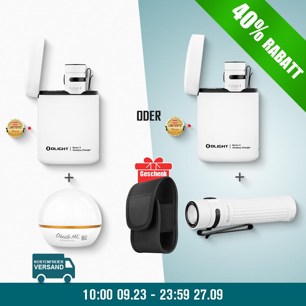 Olight Baton 3 Kit + Obulb MC + S2R II Weiß Bundle