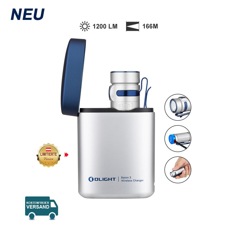 Olight Baton 3 Aufladbare Taschenlampe Kit-Silber