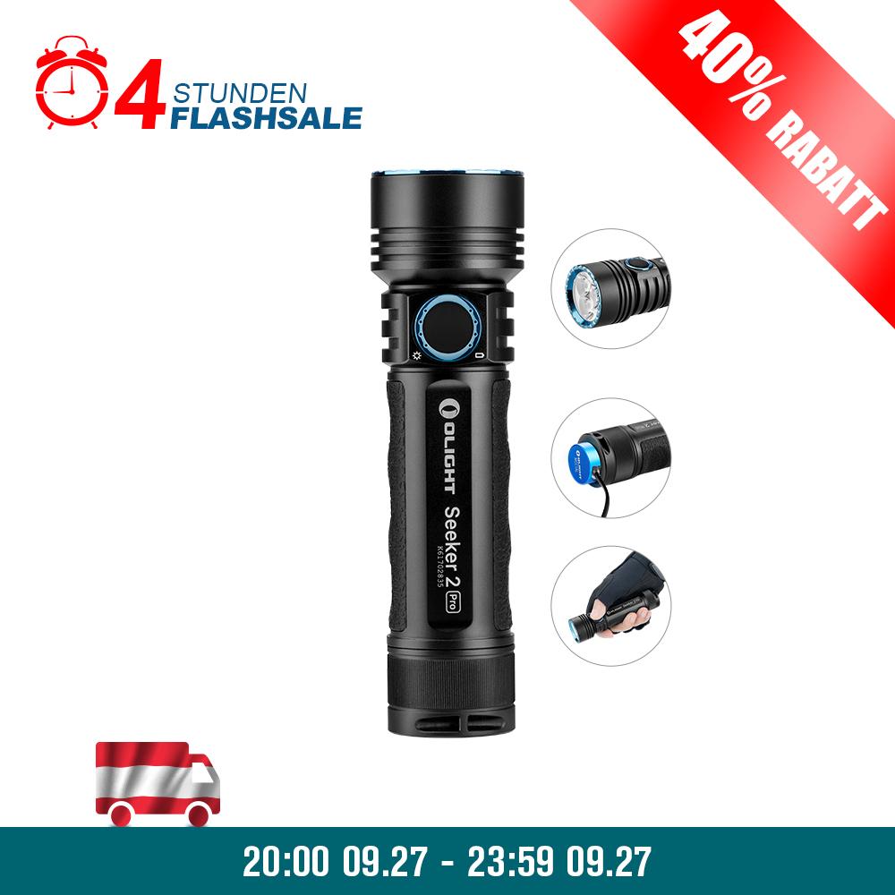 Olight Seeker 2 Pro Schwarz Wiederaufladbare Taschenlampe