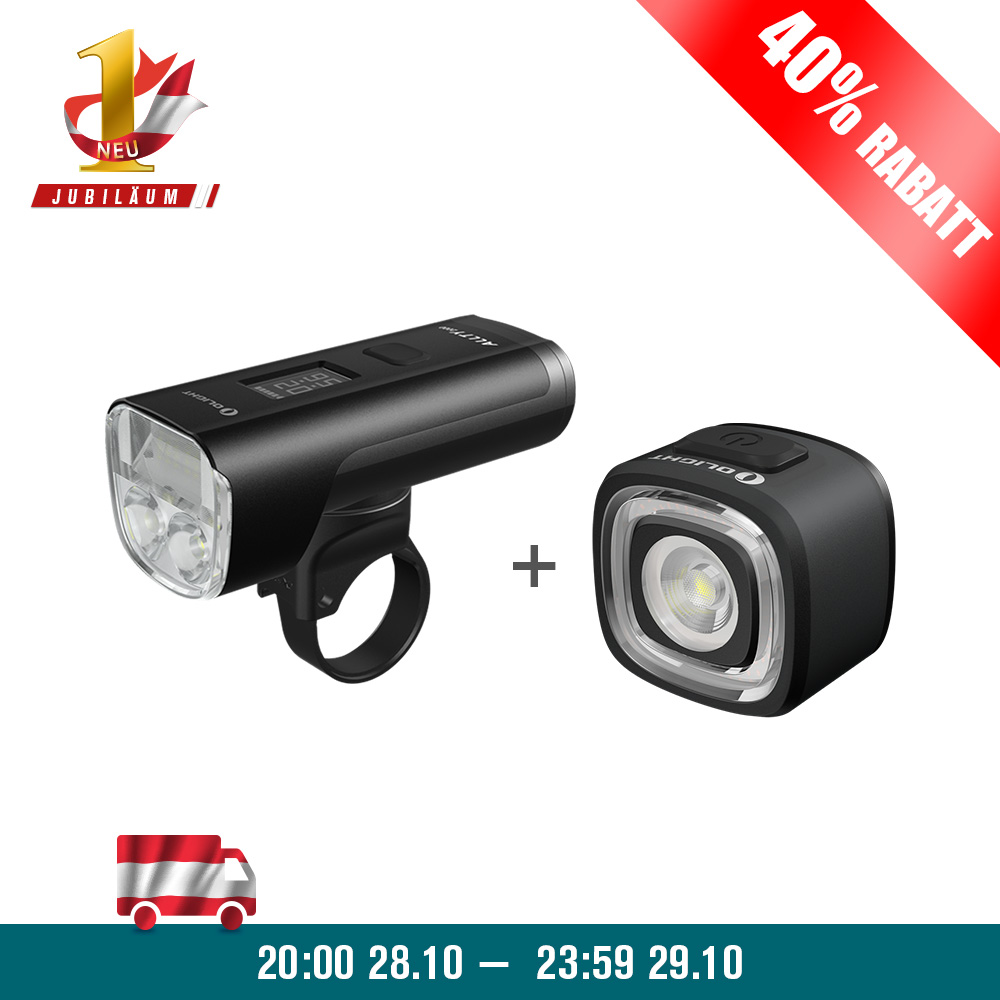 Olight ALLTY 2000 Fahrradlampe+RN 120 Bundle