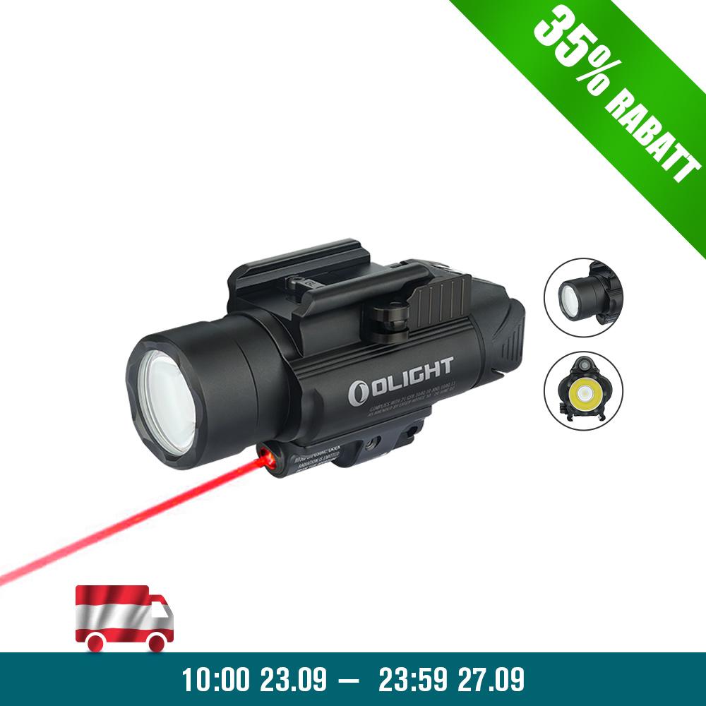 Olight BALDR RL Waffenlichtmit Rotem Laser - Schwarz
