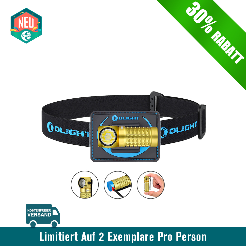 Olight Perun Mini Multifunktionslampe -Golden