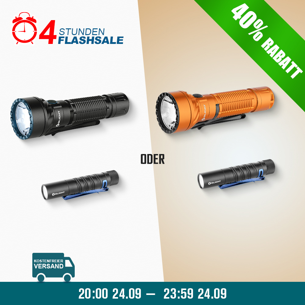 Freyr Farbe LED Taschenlampe+I5T schwarz Bundle