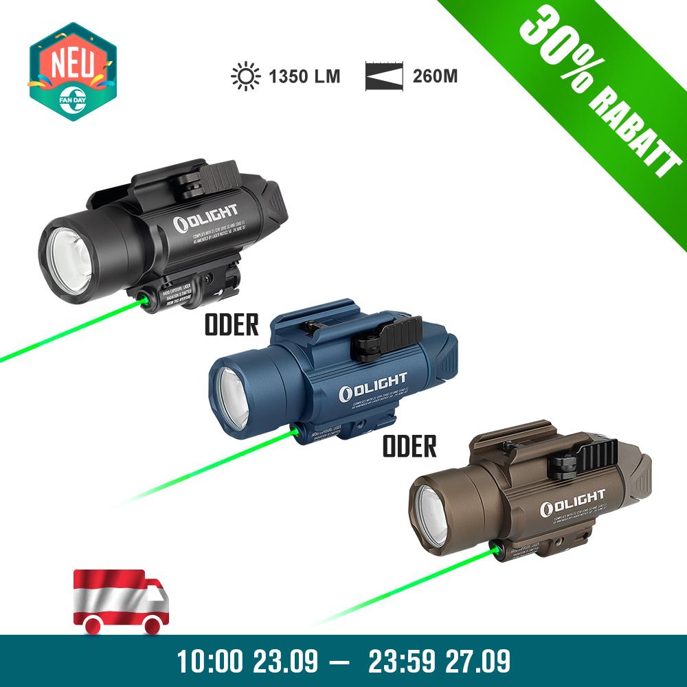 Olight BALDR Pro Waffenlichtmit grünem Laser