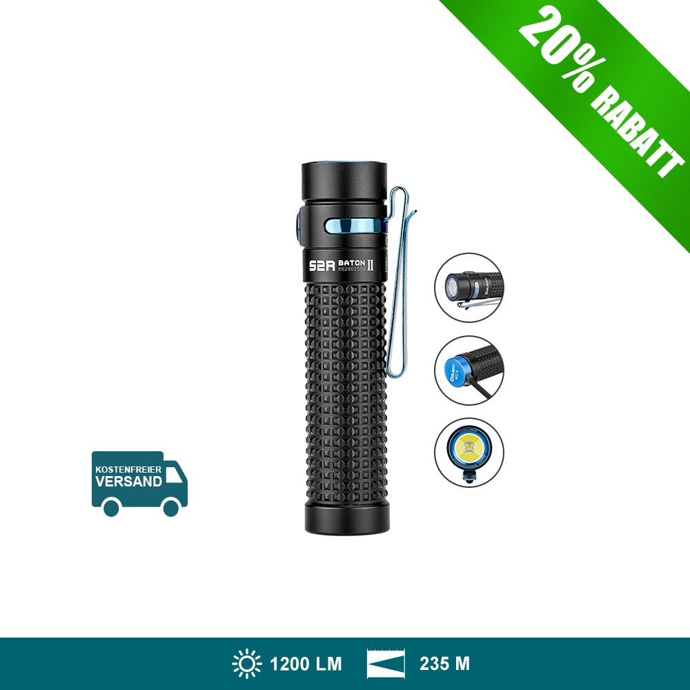 Olight S2R Baton II Taschenlampe-schwarz