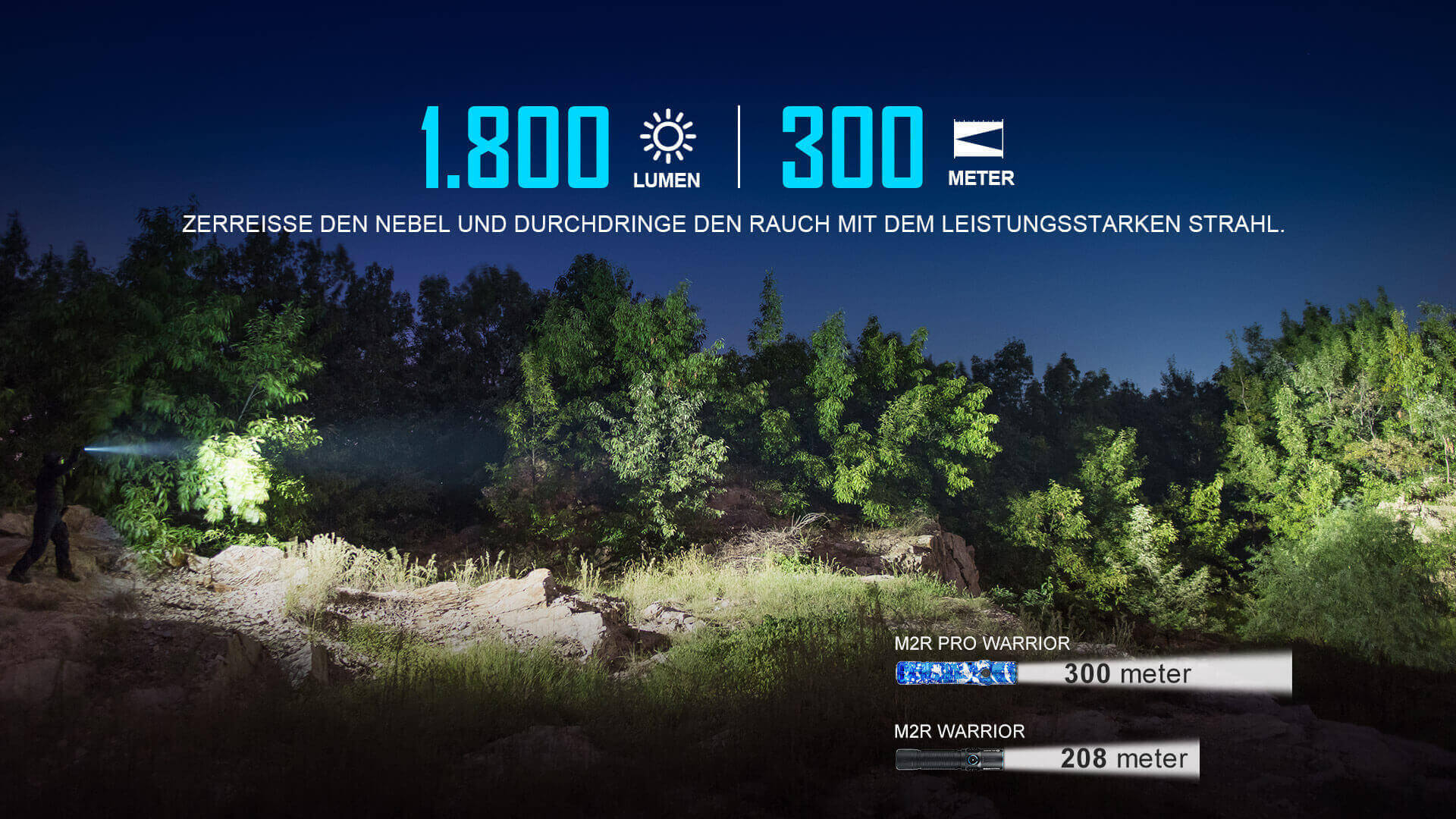 olight taktische M2R Pro Taschenlampe 1800 Lumen