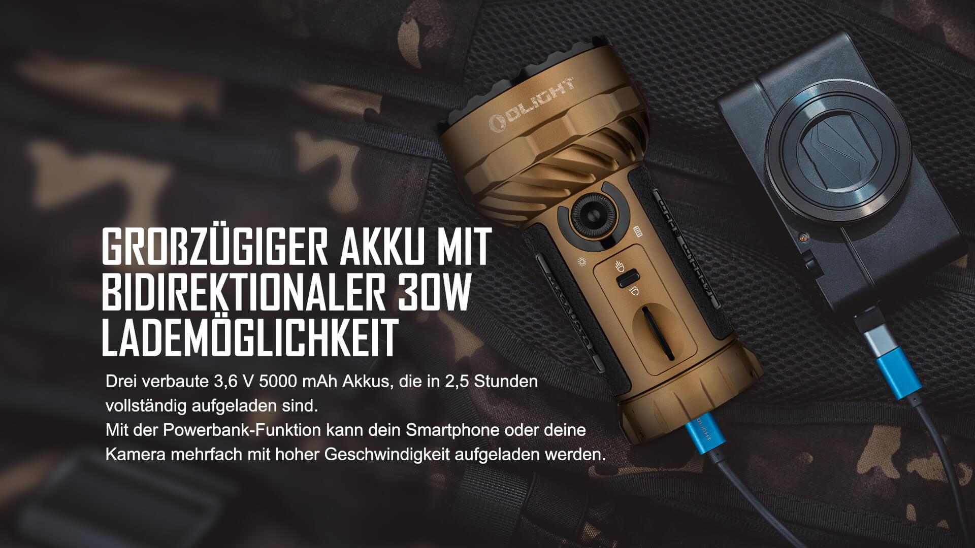 Olight Marauder 2 Taschenlampe 30W Schnellladefunktion