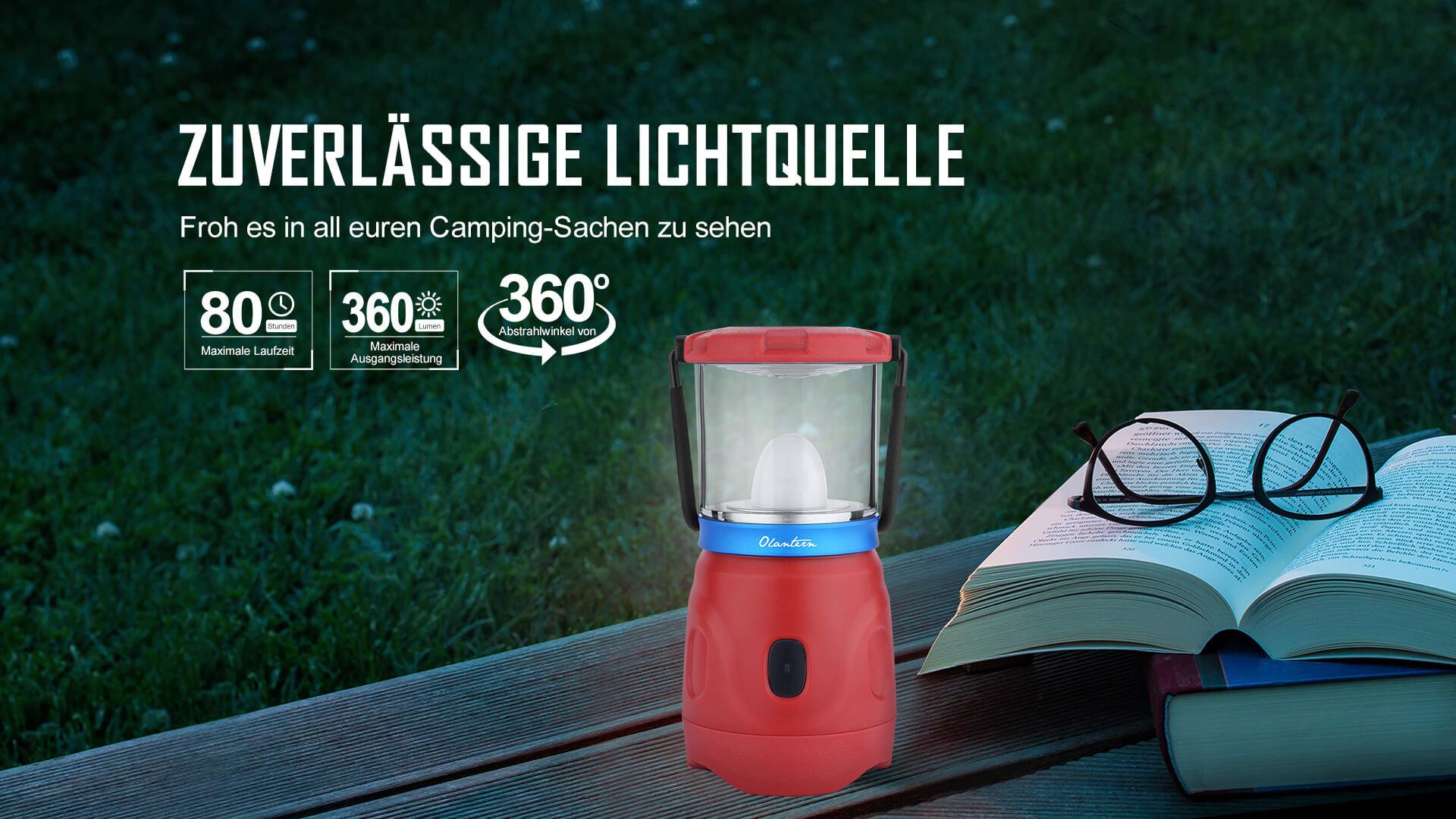 Olight Olantern mit der gleichmäßigen 360° Beleuchtung