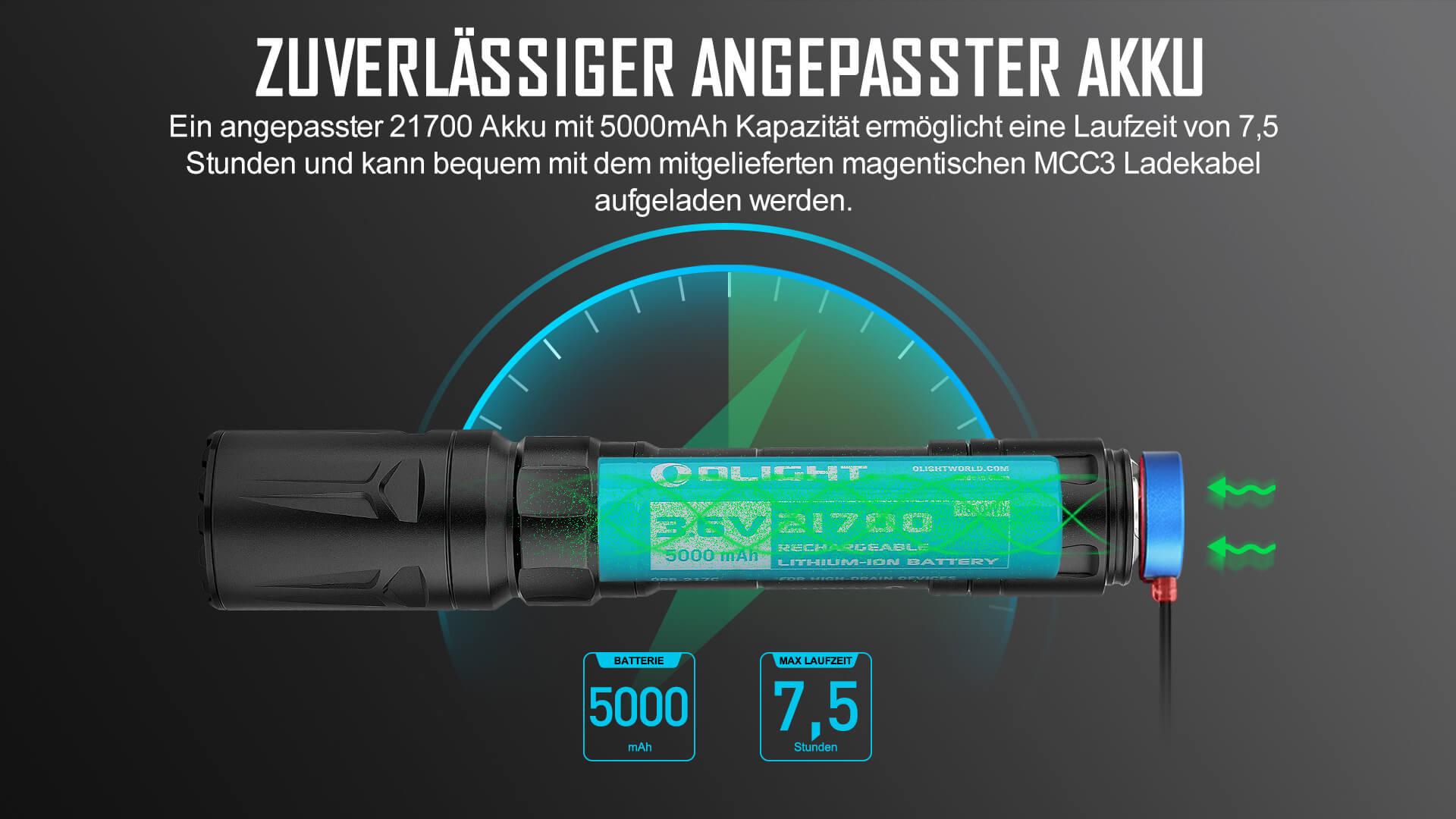 Zuverlässige maßgeschneiderte Batterie