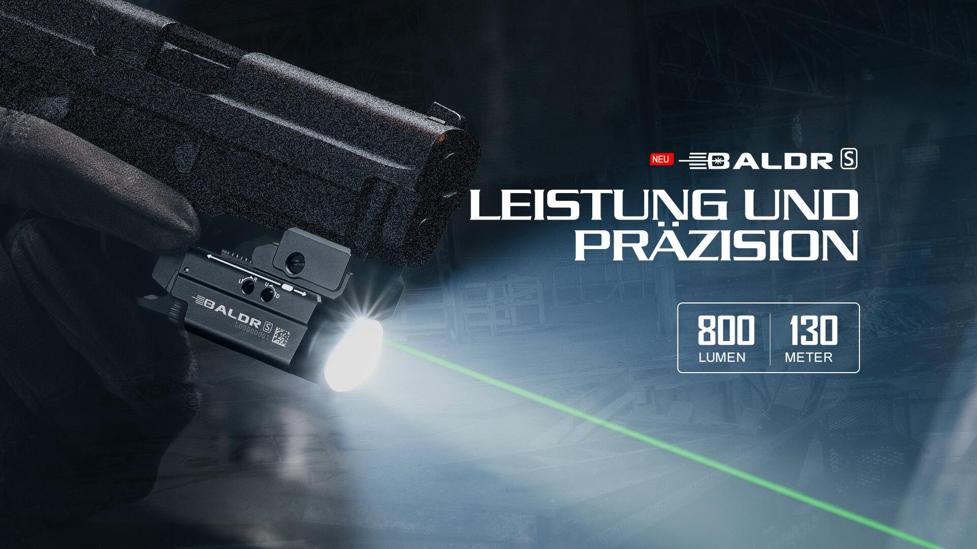 Die Baldr S ist eine der leistungsstärksten kompakten Licht-/Laserkombinationen auf dem Markt.