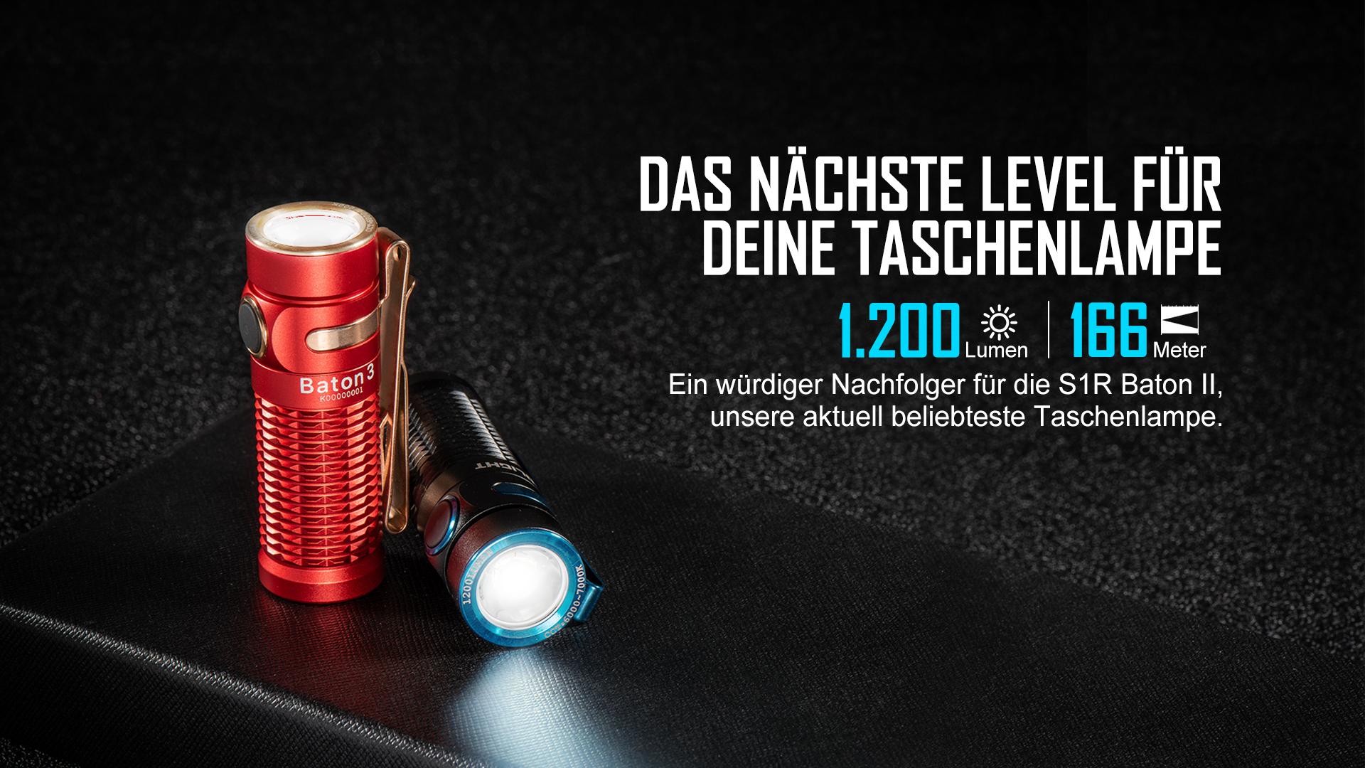 Die verbesserte TIR-Linse von Olight Taschenlampe