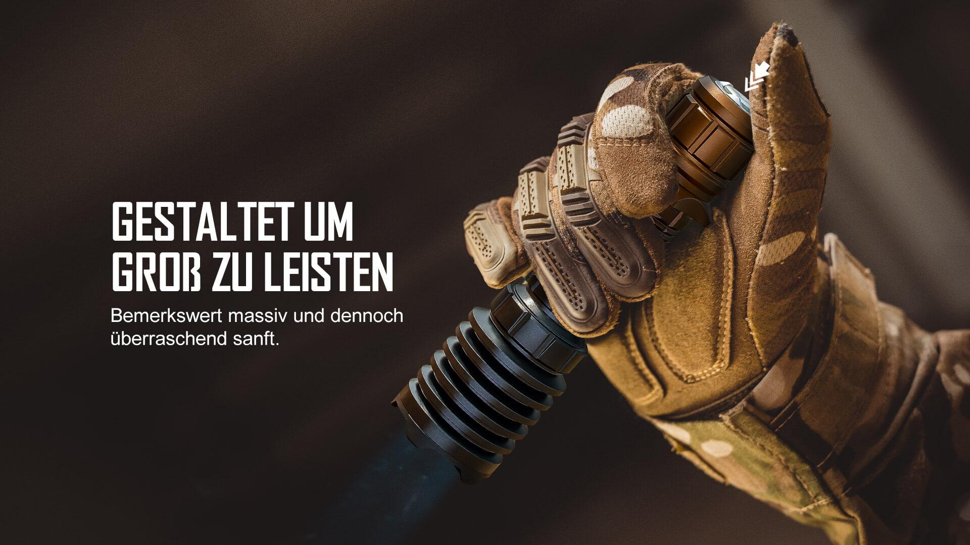 olight taktische Taschenlampe Warrior X Pro mit einem stärkeren Magnetismus und tieferen Rändelungen