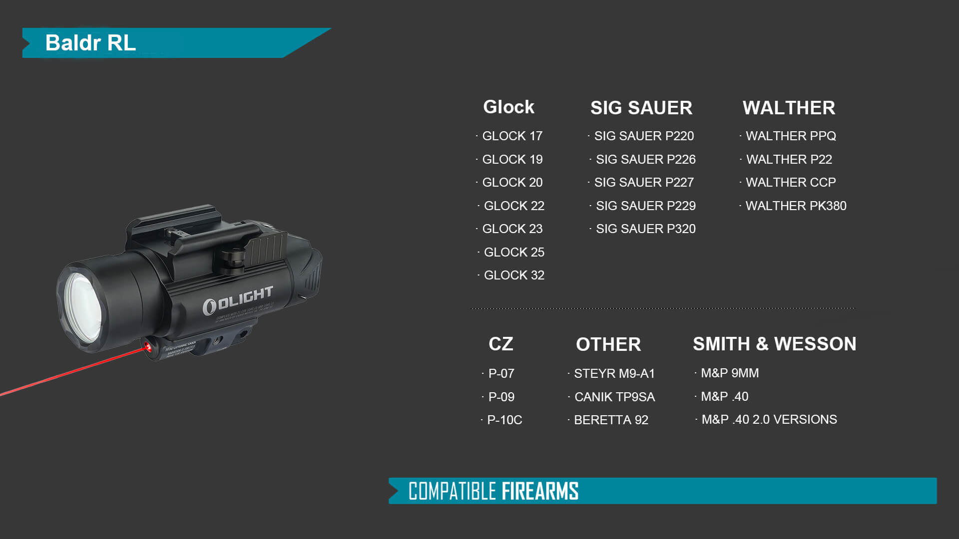 Die Baldr RL ist der Wegbereiter für kompakte Waffenlampen.