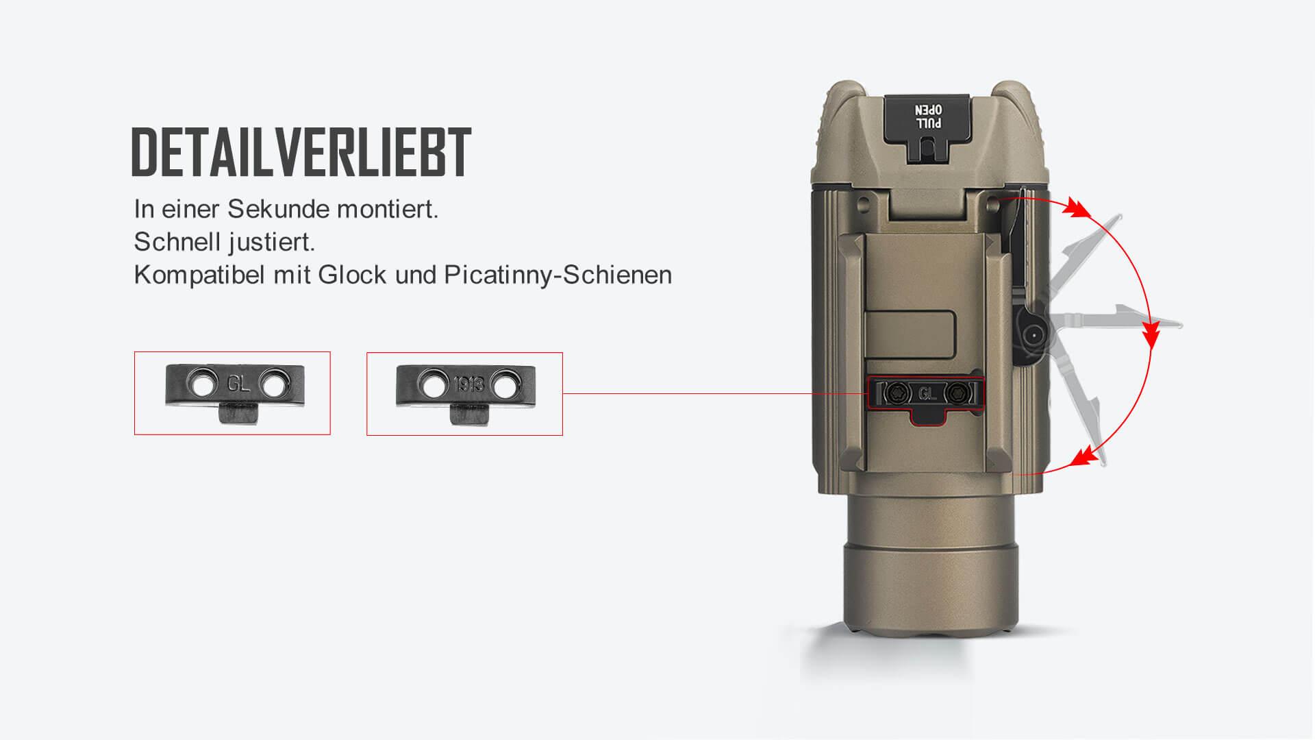Das BALDR RL ist ein professionelles Laserlichtmodul