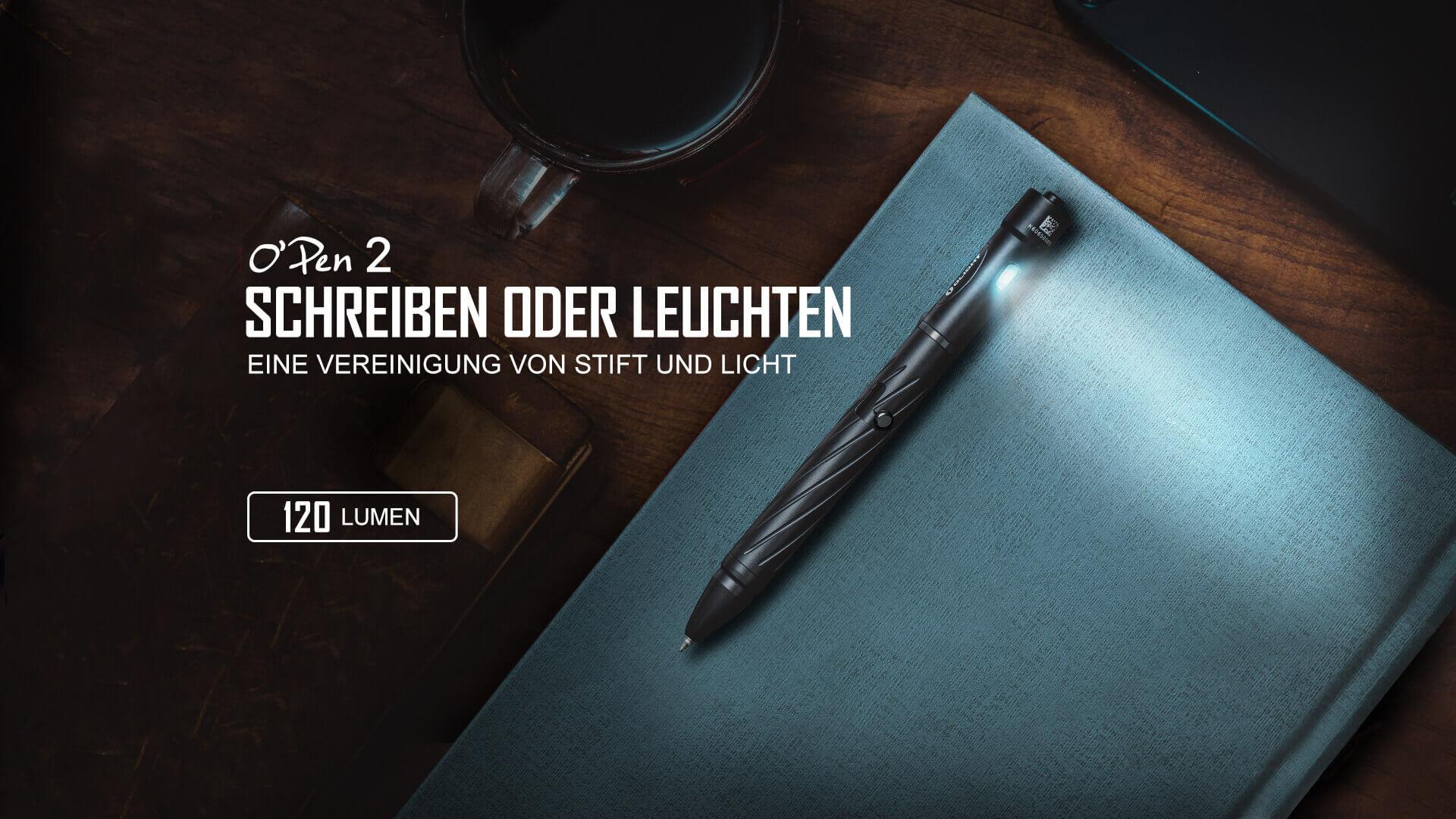 OLIGHTs erster EDC-Stift mit Beleuchtungsfunktion, der zum Schreiben im Dunkeln genutzt werden kann.